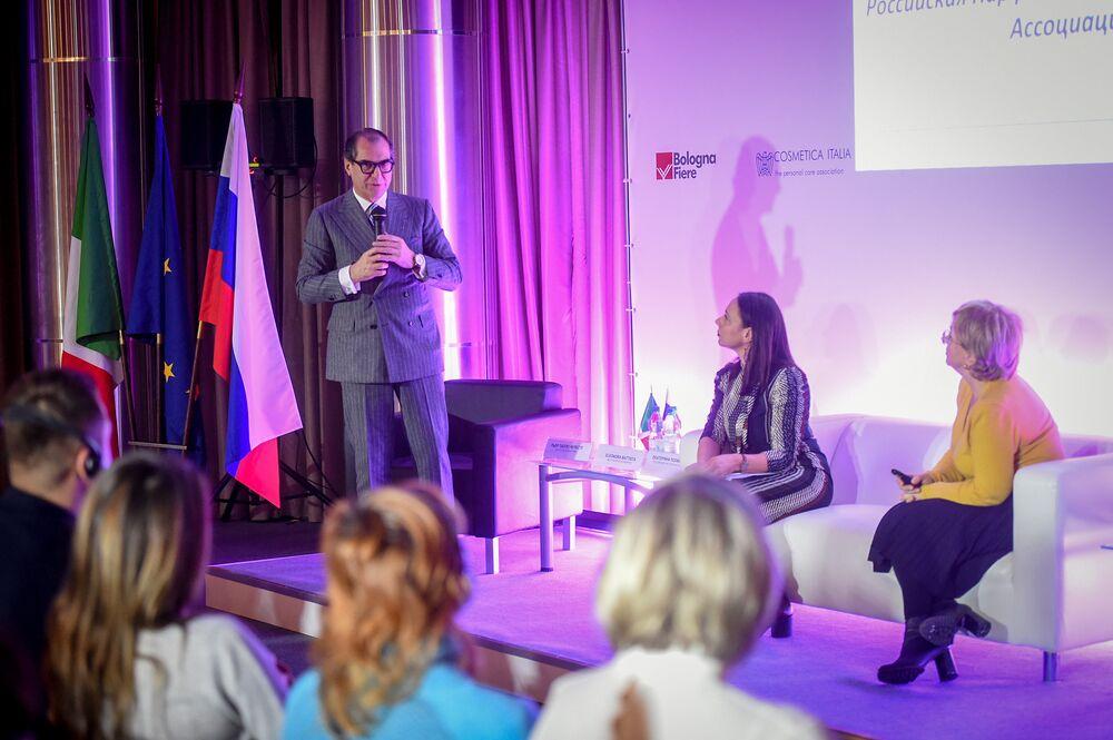 La presentazione di Cosmoprof Bologna all'interno di Buongiorno Italia