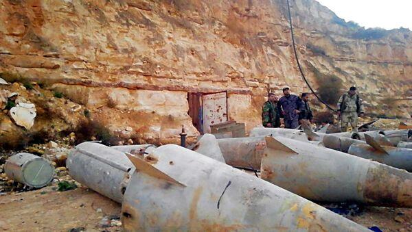 الأمن السوري يضبط صواريخ (أرض جو) قرب الأراضي الأردنية - Sputnik Italia