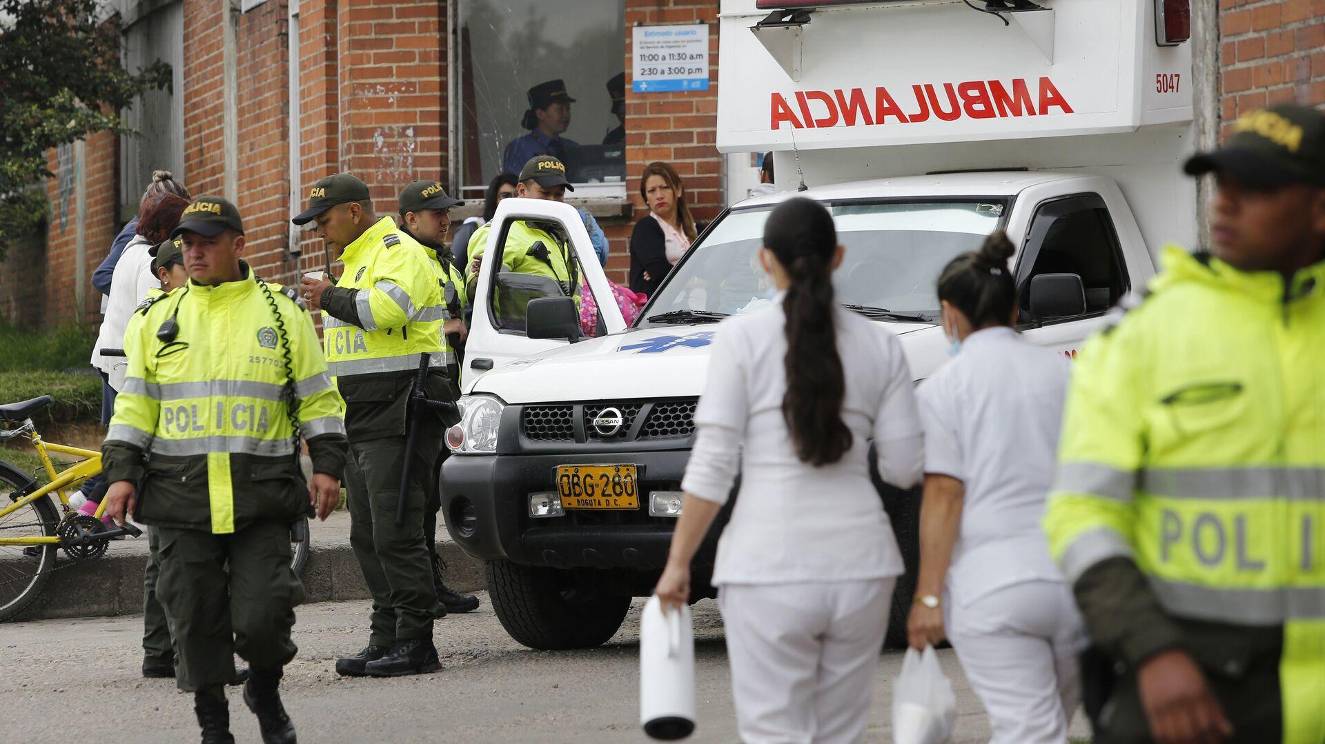 L a polizia e l'ambulanza in Colombia (foto d'archivio)  - Sputnik Italia, 1920, 12.06.2021
