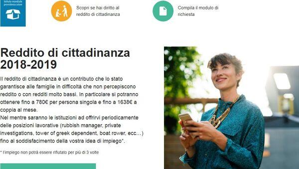 Redditodicittadinanza2018.it - Sputnik Italia