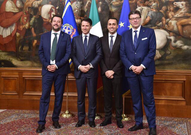 Matteo Salvini, Giuseppe Conte, Luigi Di Maio, Giancarlo Giorgetti