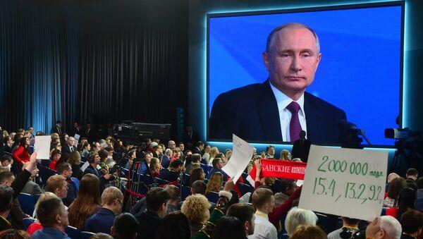Annual big press conference of the Russian President V. Putin - Sputnik Italia