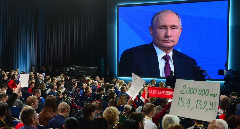Conferenza stampa annuale di Vladimir Putin
