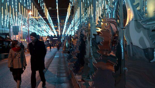 Le installazioni di Capodanno a Mosca - Sputnik Italia