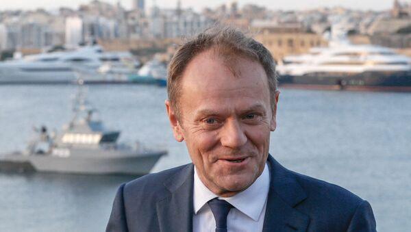 European Council President Donald Tusk addresses the media on the eve of a European Union leaders summit in Valletta, Malta February 2, 2017. - Sputnik Italia