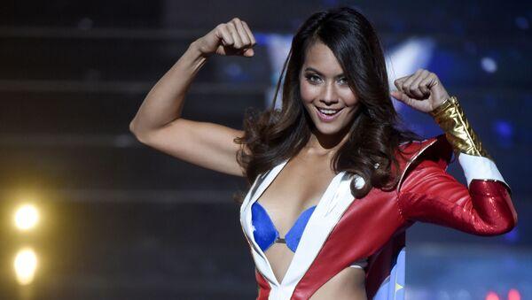 Miss Taiti Vaimalama Chaves al concorso di bellezza Miss Francia 2019 a Lille. - Sputnik Italia