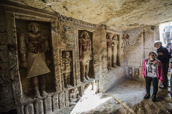 Il sacrofago del necropoli di Saqqara nel Egitto  scoperto poco tempo fa. - Sputnik Italia
