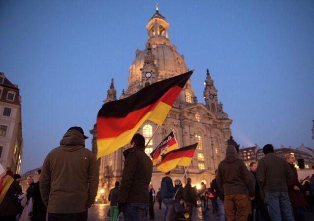 Dimostrazione Pegida a Dresda