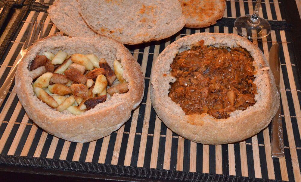 Bigos e kopytka polacchi (bocconcini di carne e crauti e gnocchi di patate)