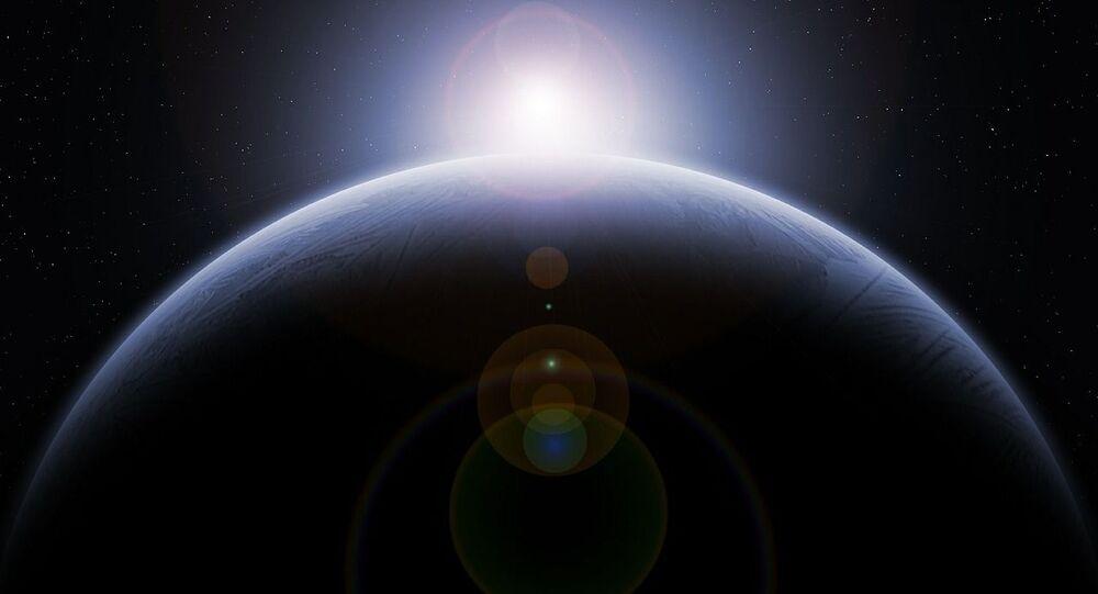 Immagine artistica del nono pianeta