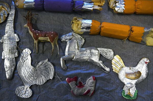 Gli addobbi natalizi della collezione del Museo di Mosca. - Sputnik Italia