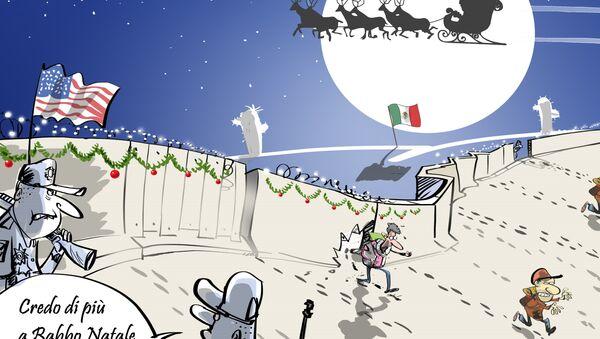 Confine tra il Messico e gli Usa al Natale - Sputnik Italia