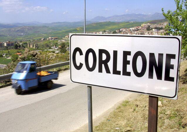 Il piccolo paese di Corleone in Sicilia