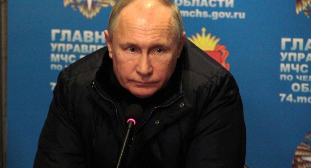 Vladimir Putin a Magnitogorsk