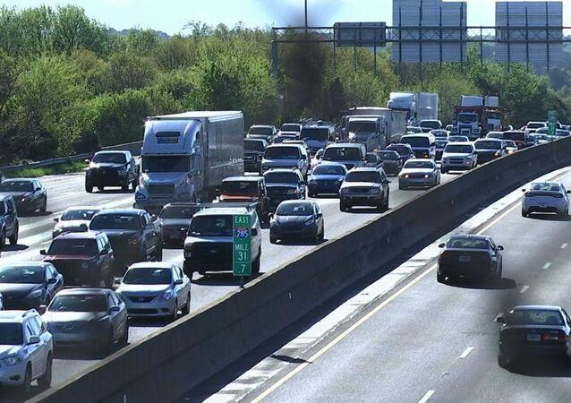 Traffico su un'autostrada