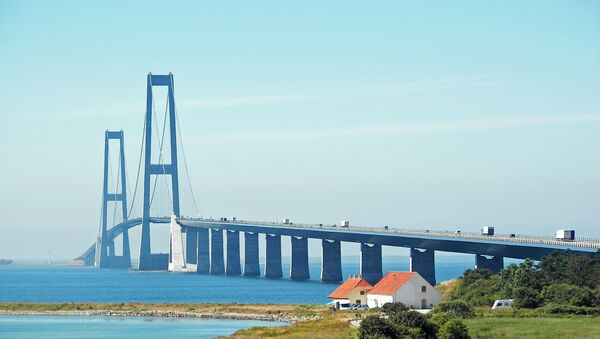 Il Ponte del Grande Belt, Danimarca - Sputnik Italia