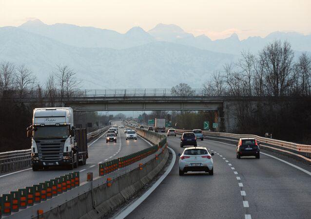 Un'autostrada in Italia