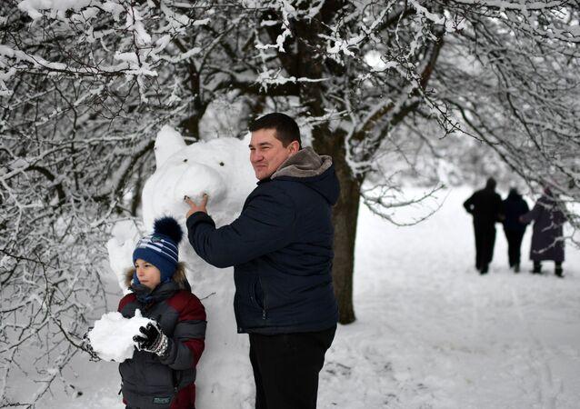 Babbo e figlio al passo di Angarskij.