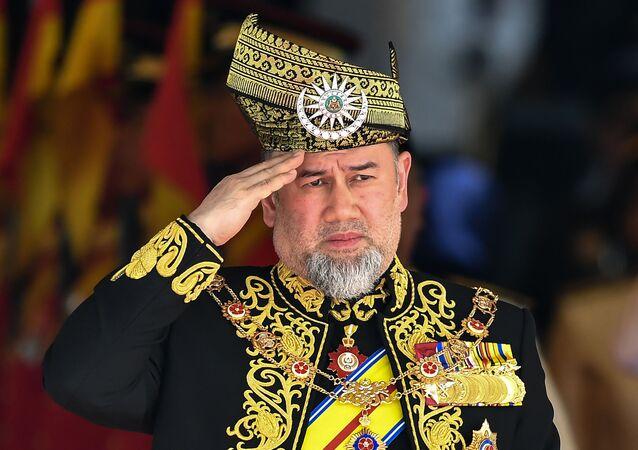 Il re della Malesia Muhammad V