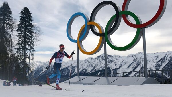 Yevgeny Belov (Russia) during the individual race in men's cross-country skiing at the XXII Olympic Winter Games in Sochi. (File) - Sputnik Italia