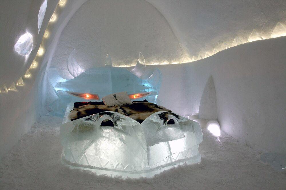 Icehotel di Jukkasjärvi, Svezia.