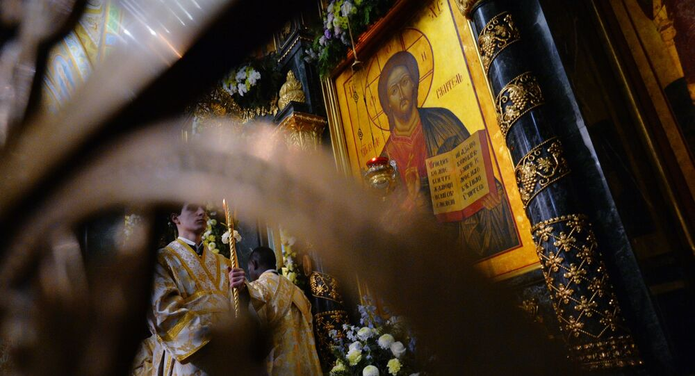 La cattedrale ad Ekaterinburg