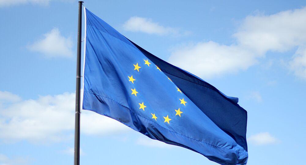 La bandiera Unione Europea
