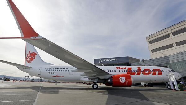 This March 21, 2018, file photo shows Boeing's first 737 MAX 9 jet at the company's delivery center before a ceremony transferring ownership to Thai Lion Air in Seattle - Sputnik Italia