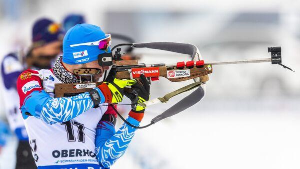 Alexander Loginov concorre per la Russia ai Mondiali di Biathlon 2019 - Sputnik Italia