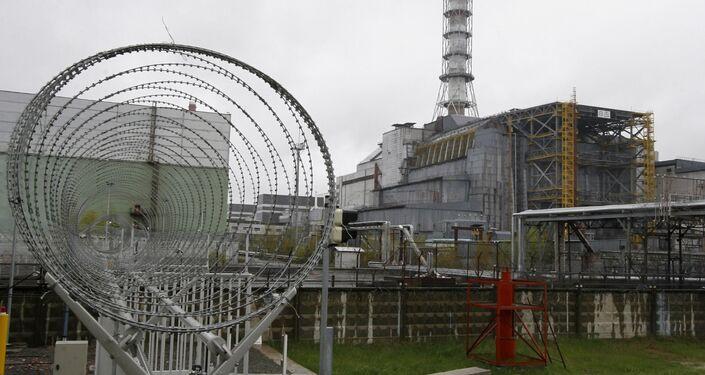 Il reattore 4 della centrale nucleare di Chernobyl