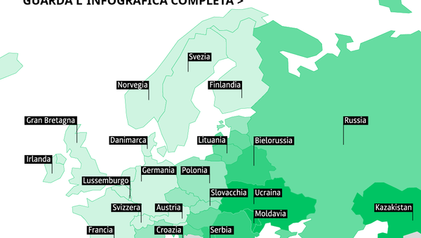 Classifica 2018 del Paesi europei per spese alimentari delle famiglie - Sputnik Italia