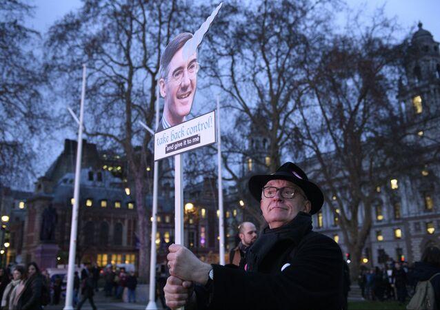 Una manifestazione contro Brexit a Londra