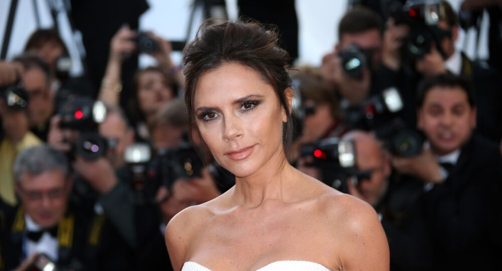 Fashion designer Victoria Beckham arrives on the red carper for the screening of the film Cafe Society and the Opening Ceremony at the 69th international film festival, Cannes, southern France, Wednesday, May 11, 2016