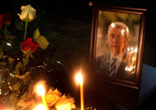 La foto del politico ucciso Oliver Ivanovich