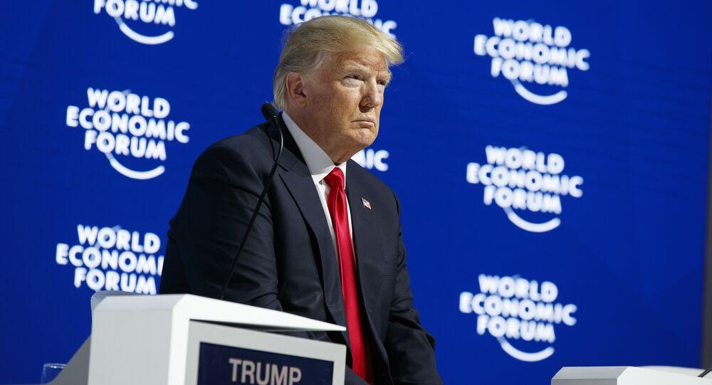 Donald Trump al Forum economico mondiale (WEF)