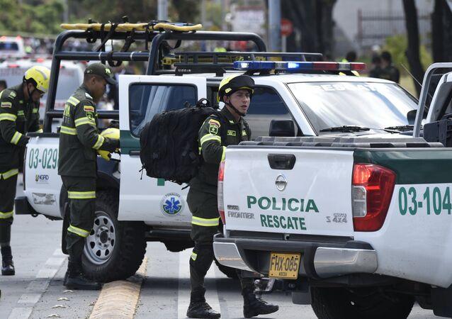 La polizia di Colombia a Bogota