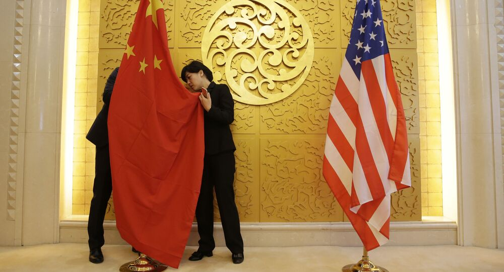 Bandiere Cina USA