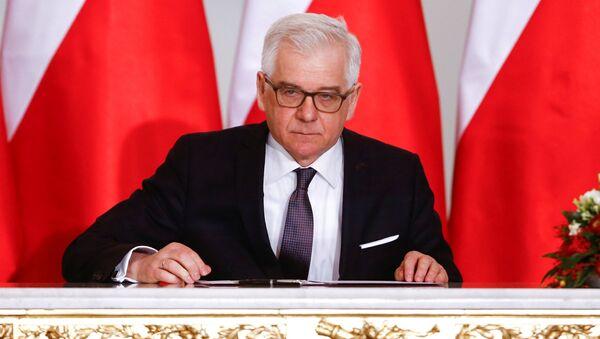 Szef polskiej dyplomacji Jacek Czaputowicz - Sputnik Italia