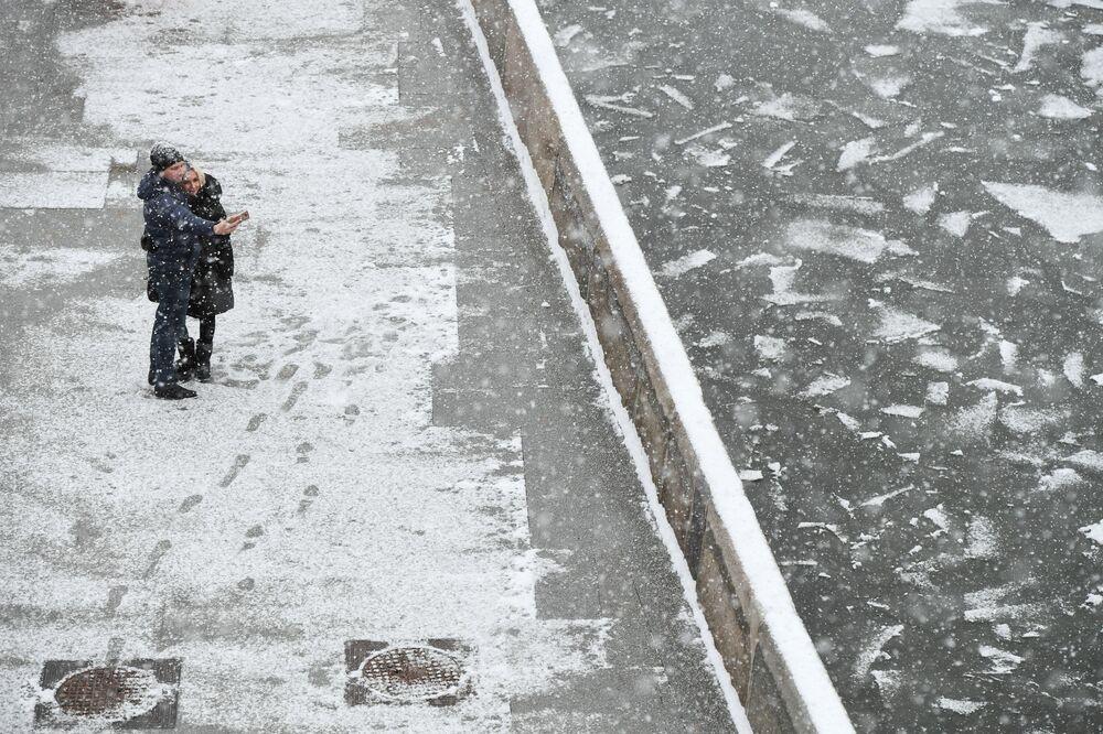 La nevicata più copiosa dell'inverno 2019 a Mosca