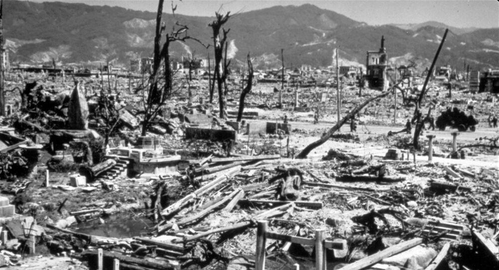 La città di Hiroshima, distrutta dalla bomba atomica americana