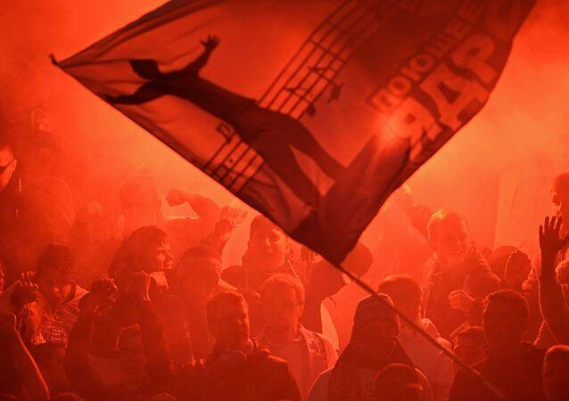 Tifosi del CSKA sugli spalti