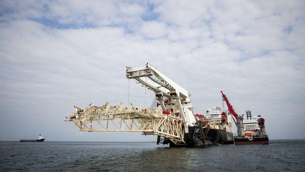 Nord Stream 2 pipeline construction underway in Finnish waters in the Baltic Sea. - Sputnik Italia