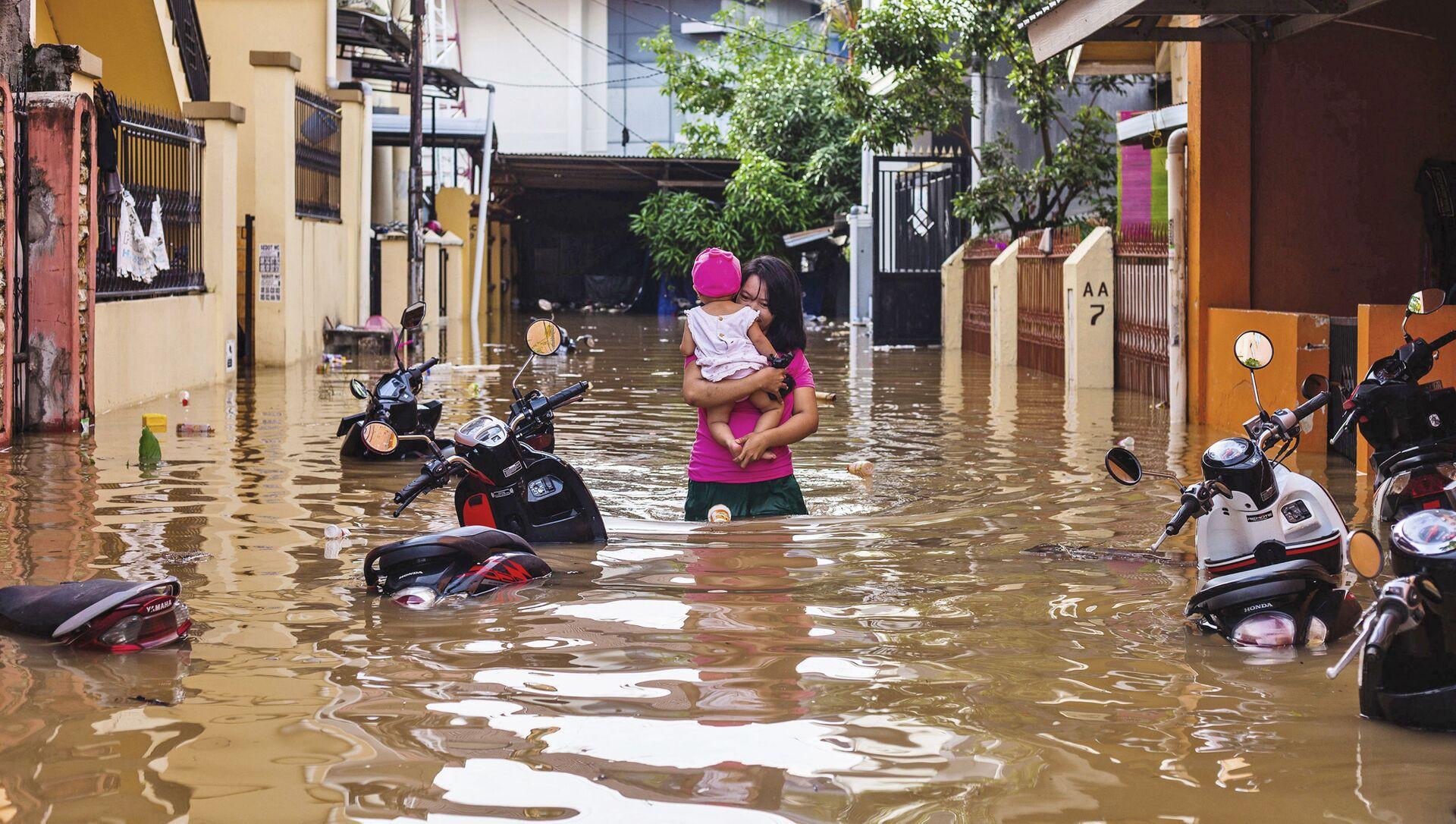 Inondazioni in Indonesia - Sputnik Italia, 1920, 20.02.2021