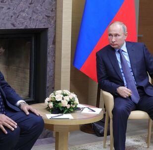 Il presidente venezuelano Nicolàs Maduro a colloquio con Vladimir Putin, Mosca 5 dicembre