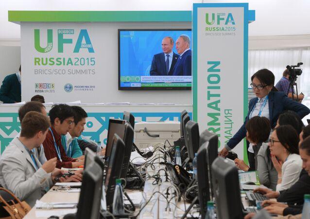 Ufa, Centro stampa dei vertici SCO e BRICS