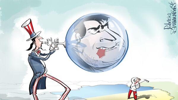 A Odessa lanciato un pallone con immagine di Saakashvili che mastica la cravatta - Sputnik Italia