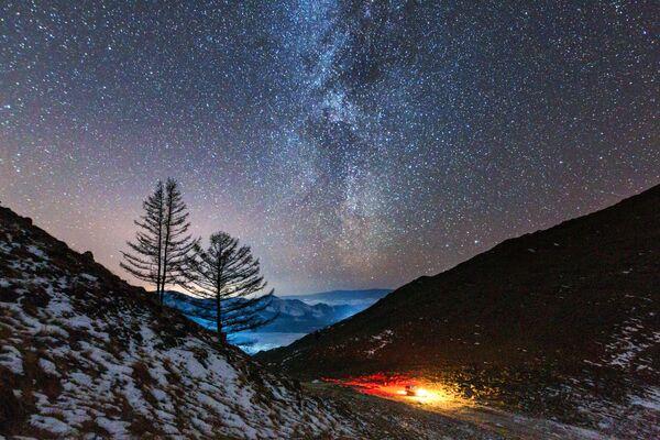 Via Lattea, vista dal fiume Anga, Siberia. - Sputnik Italia