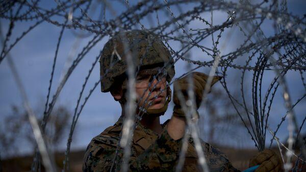 Un militare al confine tra gli USA e il Messico - Sputnik Italia