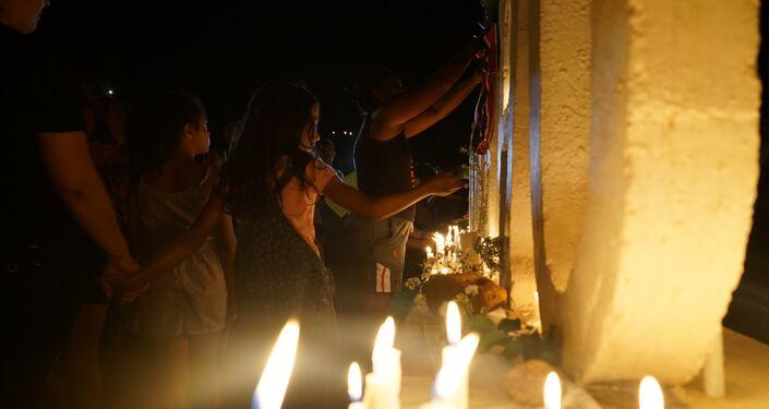 Commemorazione delle vittime del crollo della diga.