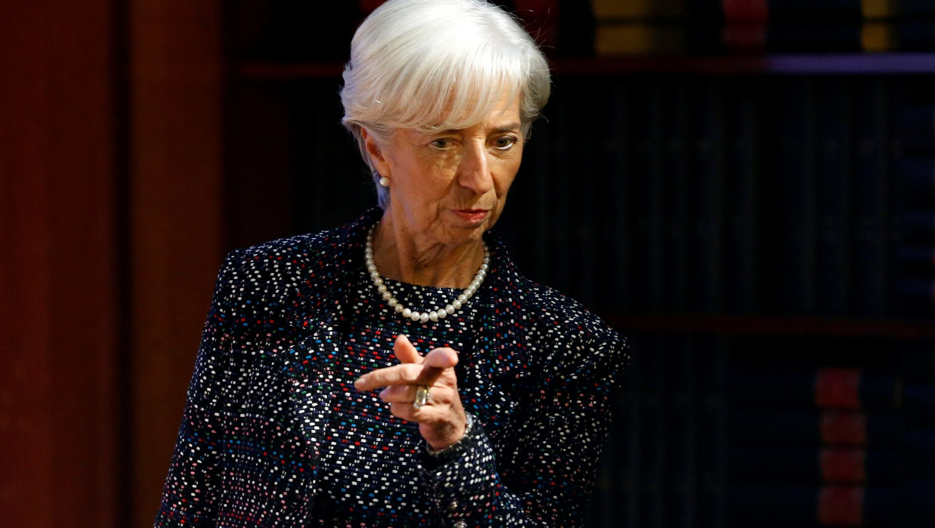 International Monetary Fund (IMF) Managing Director Christine Lagarde arrives to deliver a speech at the Solvay Library in Brussels, Belgium April 12, 2017.  - Sputnik Italia, 1920, 08.02.2021